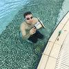 アクアエリアプール槽の水中照明交換-サムネイル