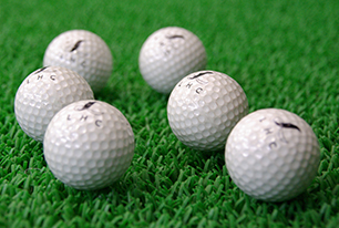 Golf driving range写真